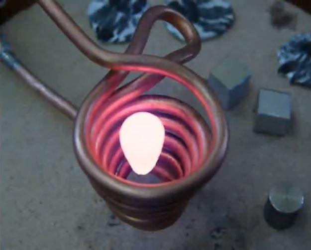 magnetic metal melting