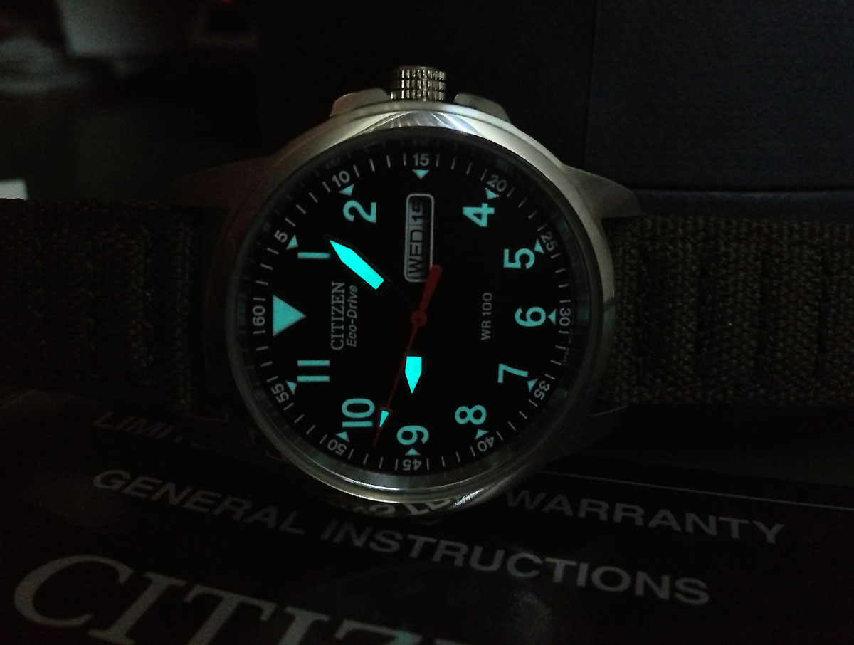 glow in the dark watchface